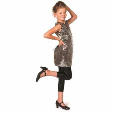 Vintage glitter jurk zilver meisjes