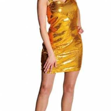 Vintage glitter jurkje goud