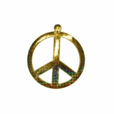 Vintage goud peace teken 52 cm
