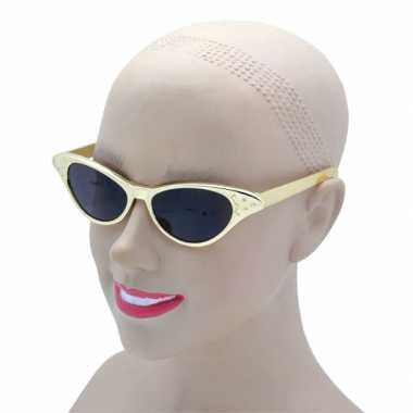 Vintage gouden feestbril voor volwassenen