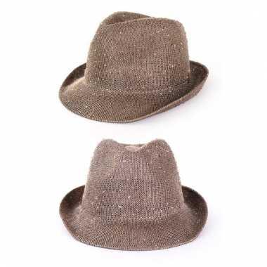 Vintage gouden glitter hoed voor volwassenen