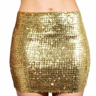 Vintage gouden glitter pailletten disco rokje dames