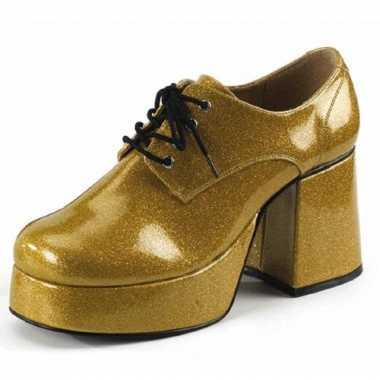 Vintage gouden glitterschoenen heren