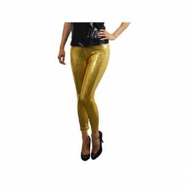 Vintage gouden pailletten legging voor dames