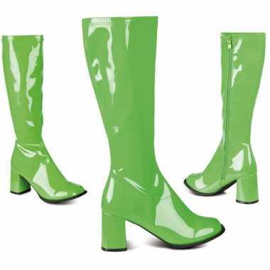 Vintage groene dames laarzen