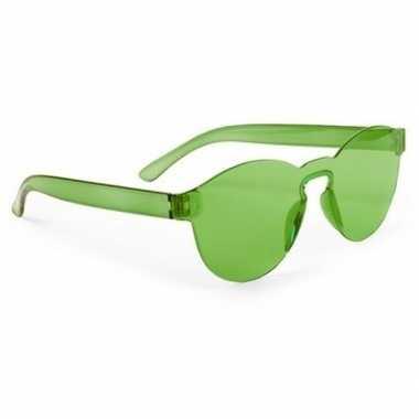 Vintage groene verkleed zonnebril voor volwassenen