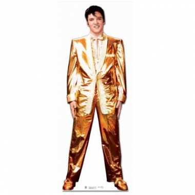 Vintage groot decoratie bord elvis gold