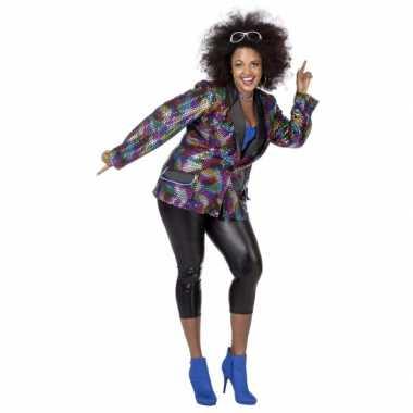 Vintage grote maat disco jas voor vrouwen