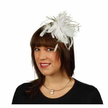 Vintage haarkam met witte veren voor dames