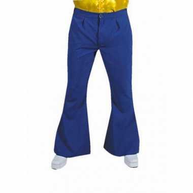 Vintage heren hippie broek blauw