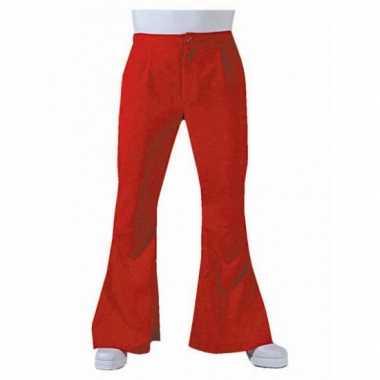 Vintage heren hippie broek rood