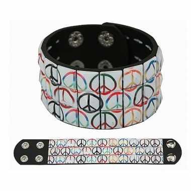 Vintage hippie armband peace