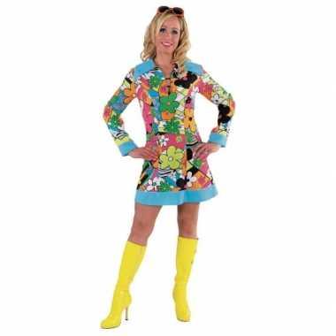 Vintage hippie bloemen jurk dames