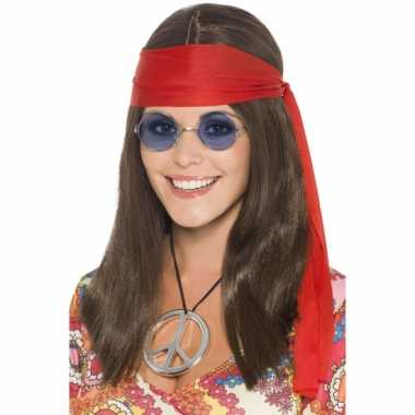 Vintage hippie dames verkleed kit deluxe