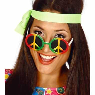 Vintage hippie/flower power peace verkleed bril