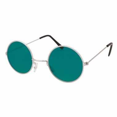 Vintage hippie / flower power verkleed bril groen