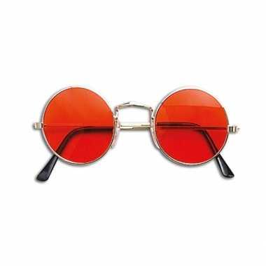 Vintage hippie / flower power verkleed bril oranje