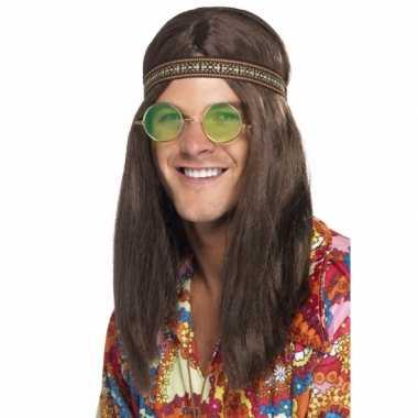 Vintage hippie heren verkleed kit