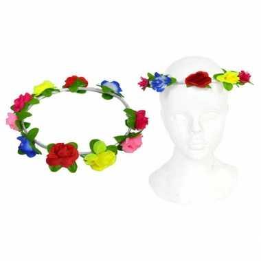 Vintage hippie hoofdband met bloemen