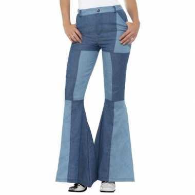 Vintage hippie sixties verkleed broek patchwork voor dames