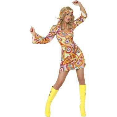Vintage hippie sixties verkleed jurkje voor dames