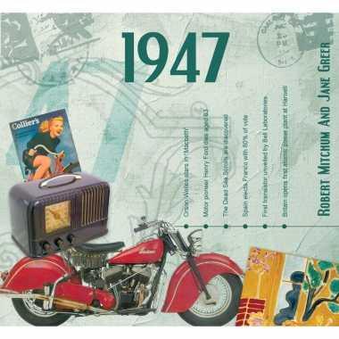 Vintage historische verjaardag cd-kaart 1947