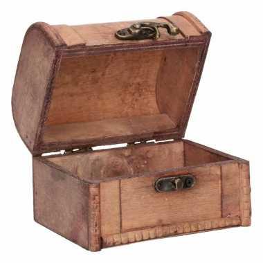 Vintage houten opbergkistje 11 cm