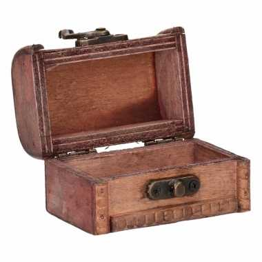 Vintage houten opbergkistje 8 cm