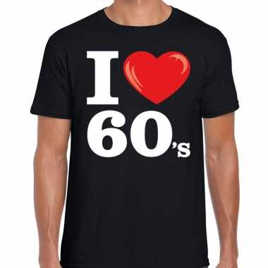 Vintage i love 60s / sixties t-shirt zwart heren