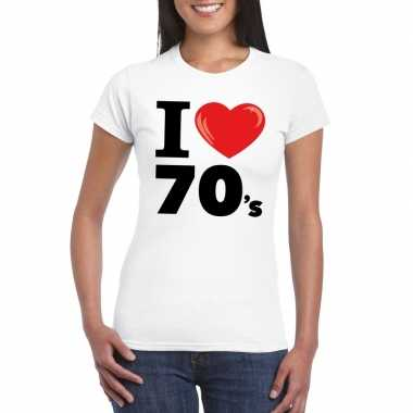Vintage i love seventies t-shirt wit dames