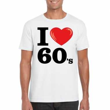 Vintage i love sixties t-shirt wit heren