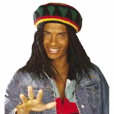 Vintage jamaicaanse bob muts voor volwassenen