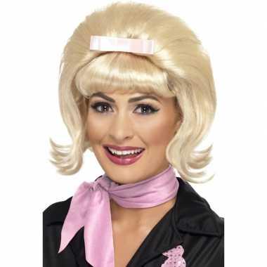 Vintage jaren 50 pruik met blond haar