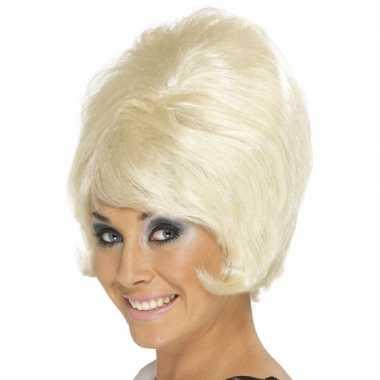 Vintage jaren 60 blonde dames pruik