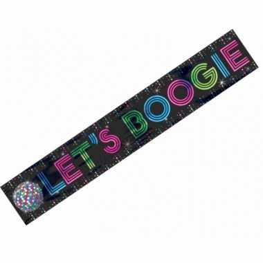 Vintage jaren 70 disco banner lets boogie