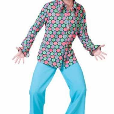 Vintage jaren 70 disco overhemd voor heren