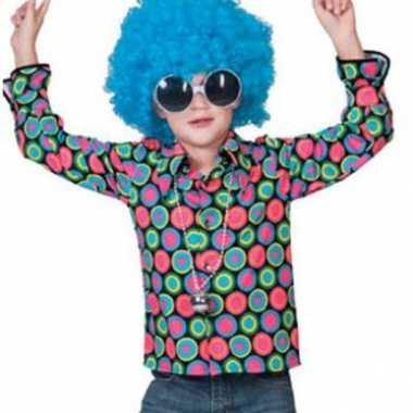 Vintage jaren 70 disco overhemd voor kids