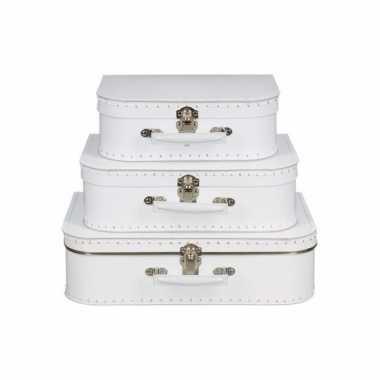 Vintage koffertje wit 30 cm