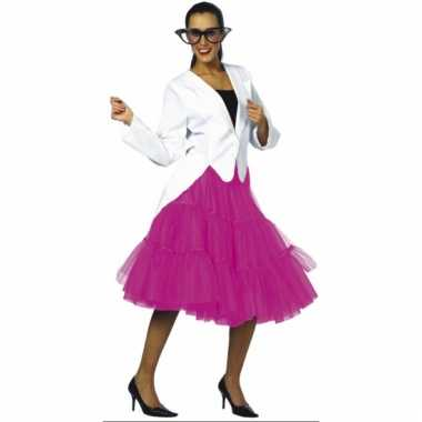 Vintage lange tule petticoat dames roze