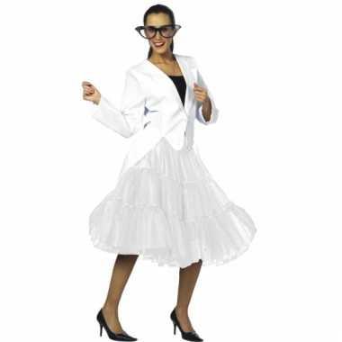Vintage lange tule petticoat dames wit