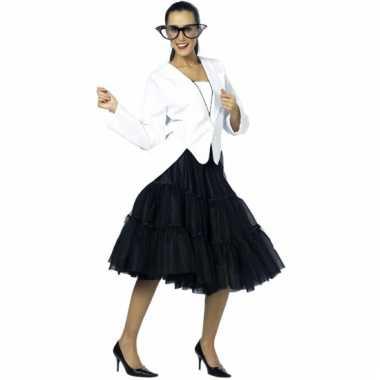 Vintage lange tule petticoat dames zwart