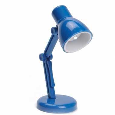 Vintage led leeslampje retro blauw