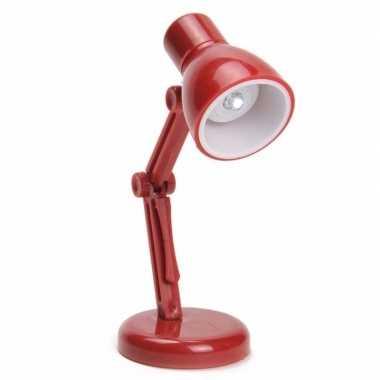 Vintage led leeslampje retro rood