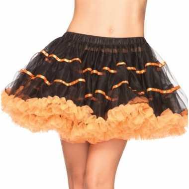 Vintage leg avenue luxe petticoat zwart met oranje