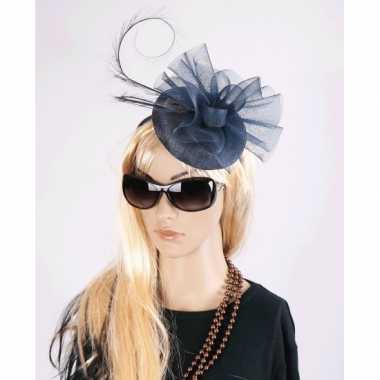 Vintage luxe navy koninginnen hoed christina