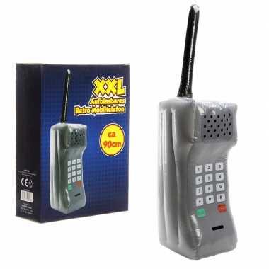 Vintage mega opblaasbare retro telefoon 90 cm