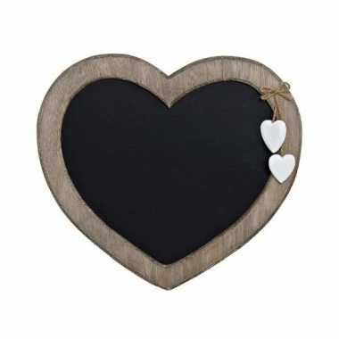 Vintage memo krijtbord hart vorm 27 cm