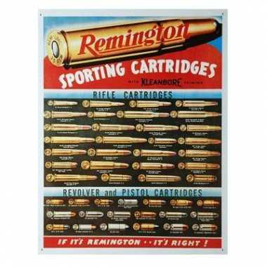 Vintage metalen wandplaat remington