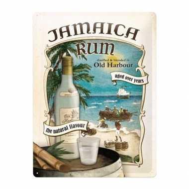 Vintage muurdecoratie jamaica rum 30 x 40 cm
