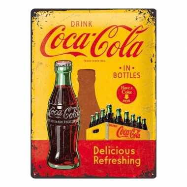 Vintage muurplaat drink coca cola 30 x 40 cm